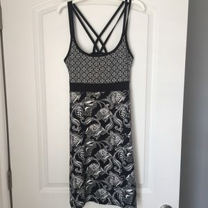 Lola Black /white Print Dress M.